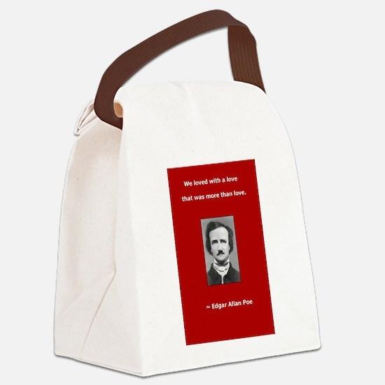 2-PoeLove 1 copy.jpg Canvas Lunch Bag