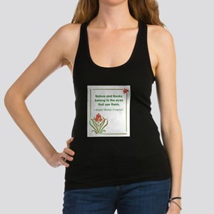 Nature and Books2 Racerback Tank Top