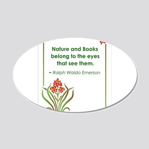 Nature and Books2.jpg 20x12 Oval Wall Decal