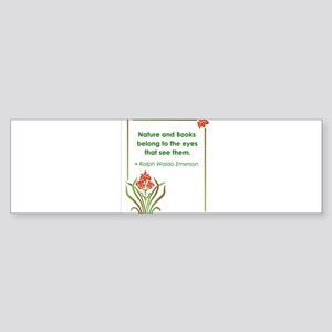 Nature and Books2 Sticker (Bumper)