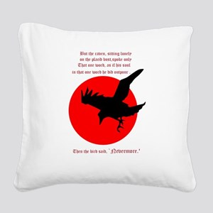 Nevermore Square Canvas Pillow