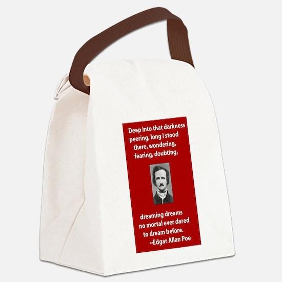 Edgar-Allan-Poe-Quote 2 copy.jpg Canvas Lunch Bag