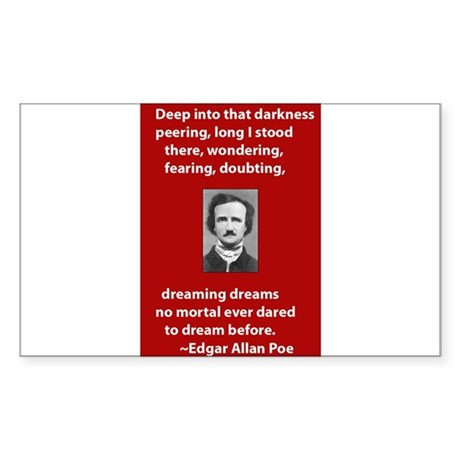 Edgar-Allan-Poe-Quote 2 copy.jpg Sticker (Rectangl