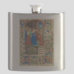 illumunated manuscript Flask