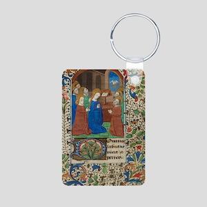 illumunated manuscript Aluminum Photo Keychain