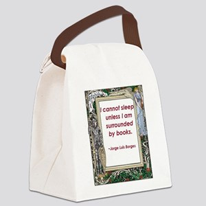surrounded by books Canvas Lunch Bag