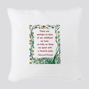 spent with a book Woven Throw Pillow