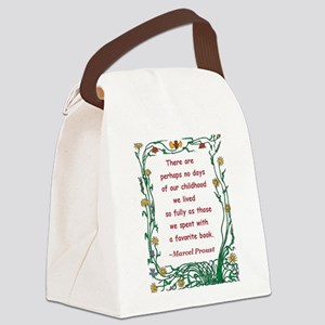spent with a book Canvas Lunch Bag