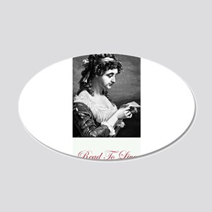 read to live 2.jpg 20x12 Oval Wall Decal