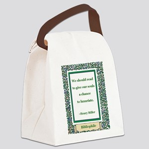 we should read Canvas Lunch Bag