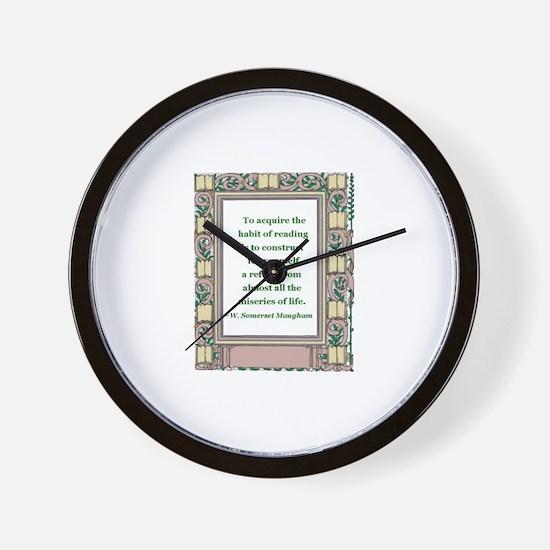 habit of reading.jpg Wall Clock