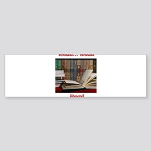2-read read read Sticker (Bumper)
