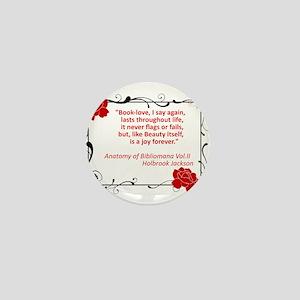 bibliomania Mini Button