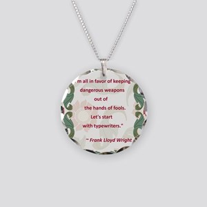 2-Frank Lloyd Wright quote Necklace Circle Cha