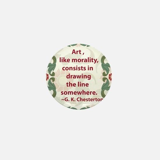 2-chesterton on art.jpg Mini Button