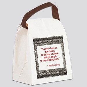 bradbury on books Canvas Lunch Bag