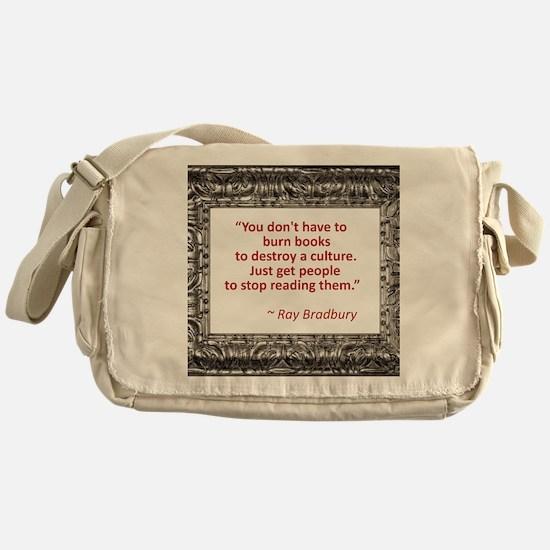 bradbury on books.jpg Messenger Bag