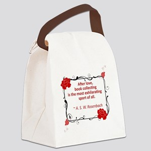 book collecting love Canvas Lunch Bag
