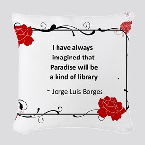paradise library Woven Throw Pillow