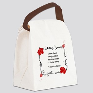 paradise library Canvas Lunch Bag