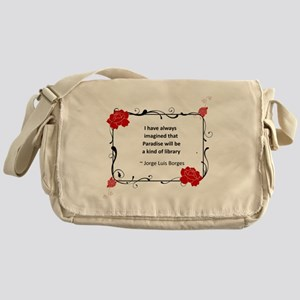 paradise library Messenger Bag