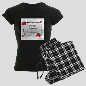 paradise library Women's Dark Pajamas