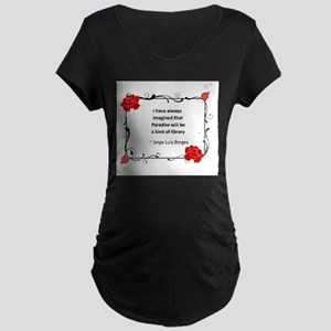 paradise library Maternity Dark T-Shirt