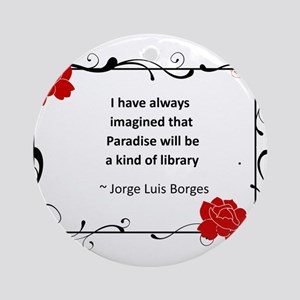 paradise library Ornament (Round)