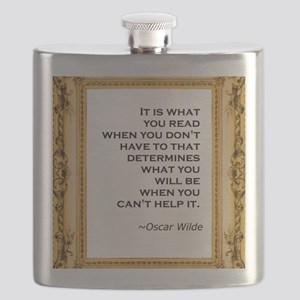 what you read wilde Flask