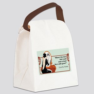 2-satingownparker Canvas Lunch Bag