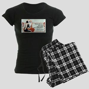 2-satingownparker Women's Dark Pajamas
