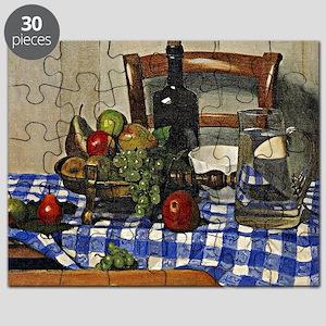 Felix Vallotton - Still Life with Blue Chec Puzzle