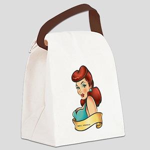 sexygirlredhead copy Canvas Lunch Bag