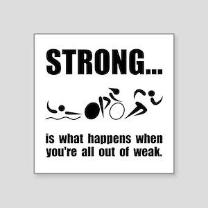 Triathlon Strong Sticker