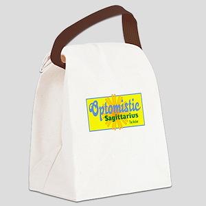 Sagittarius-One Word Description Canvas Lunch Bag