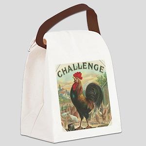 Vintage Rooster Cigar Label Canvas Lunch Bag