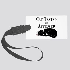 Cat Tested and Approved Large Luggage Tag