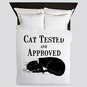 Cat Tested and Approved Queen Duvet
