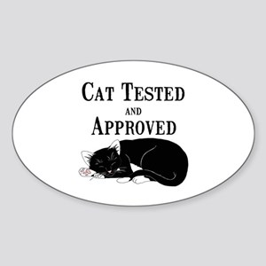 Cat Tested and Approved Sticker (Oval)
