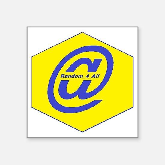 """Random Tweets Logo Square Sticker 3"""" x 3"""""""