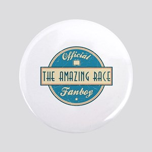 """Official The Amazing Race Fanboy 3.5"""" Button"""