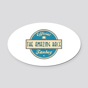 Official The Amazing Race Fanboy Oval Car Magnet