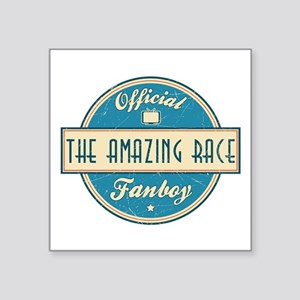 """Official The Amazing Race Fanboy Square Sticker 3"""""""