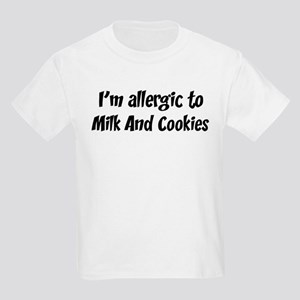 Allergic to Milk And Cookies Kids Light T-Shirt