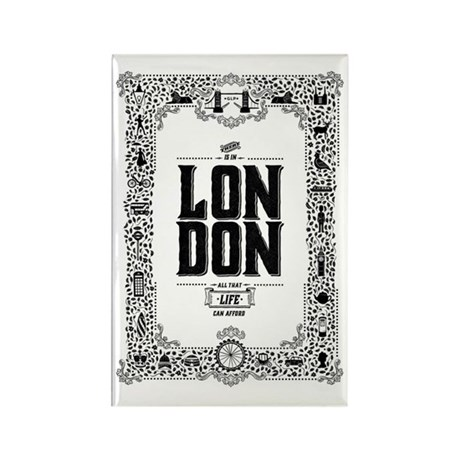 London decorative border Rectangle Magnet