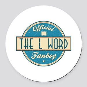 Official The L Word Fanboy Round Car Magnet