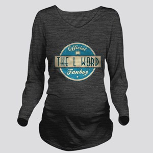 Official The L Word Fanboy Long Sleeve Maternity T
