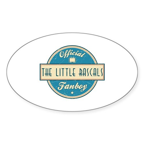 Official The Little Rascals Fanboy Oval Sticker