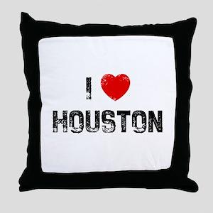 I * Houston Throw Pillow