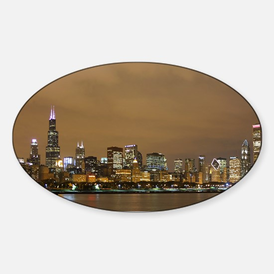 Chicago Skyline Sticker (Oval)